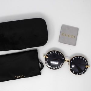 Gucci GG0113S 001 Sunglasses - Black
